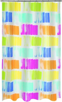 Spread Polyester Multicolor Printed Eyelet Shower Curtain