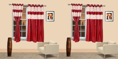 I Catch Blends Red Polka Curtain Window Curtain