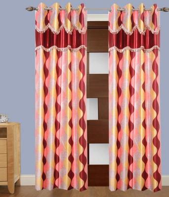 Jai Ganga Polyester Multicolor Printed Curtain Door Curtain