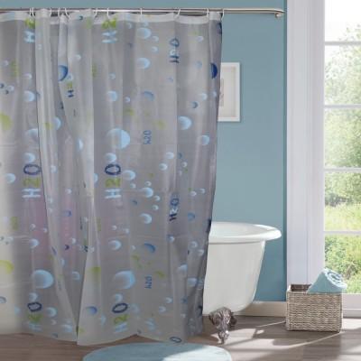 Gran Polyester Multicolour Abstract Eyelet Door Curtain