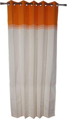 Rann Cotton Orange Plain Curtain Window & Door Curtain
