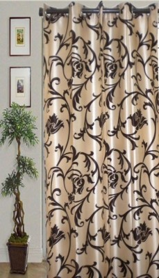 JBG Home Store Polyester Brown Striped Eyelet Door Curtain