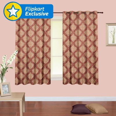 Cortina Polyester Multicolor Floral Eyelet Window Curtain