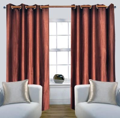 Glamora Interiors Polyester Brown Plain Curtain Window & Door Curtain