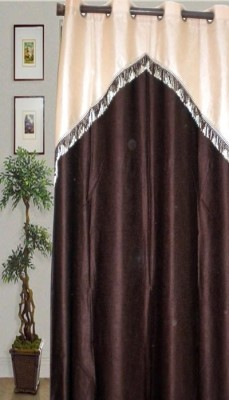 JBG Home Store Polyester Brown Abstract Eyelet Door Curtain