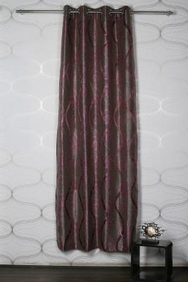 Homelife Jacquard Multicolor Self Design Eyelet Door Curtain