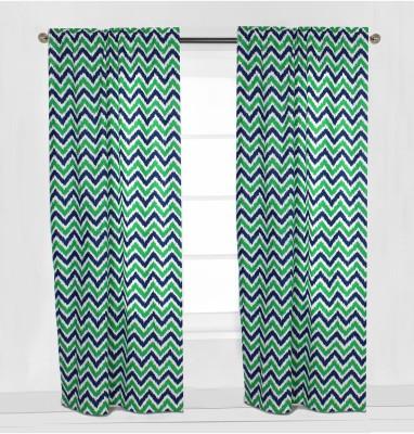 Bacati Cotton Multicolor Geometric Eyelet Window & Door Curtain