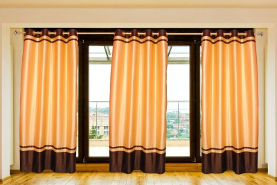Batham Sales Blends Beige Plain Eyelet Door Curtain