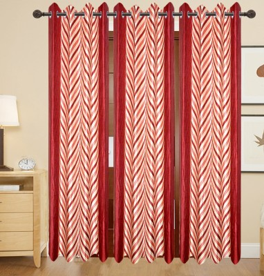 DECO INDIA Polyester Multi - Colour Abstract, Printed Eyelet Door Curtain