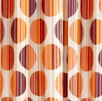 Cortina Polyester Orange Solid Eyelet Window Curtain(150 cm in Height, Pack of 2)
