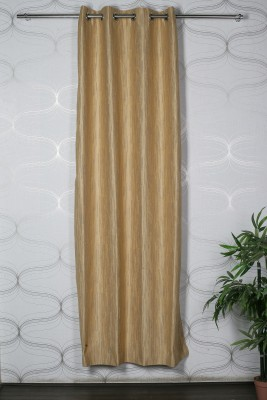 Homelife Polyester Multicolor Self Design Eyelet Door Curtain