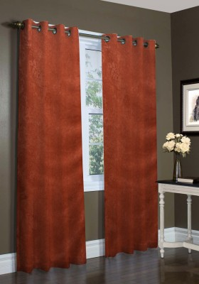 Laura Polyester Multicolor Plain Curtain Window & Door Curtain