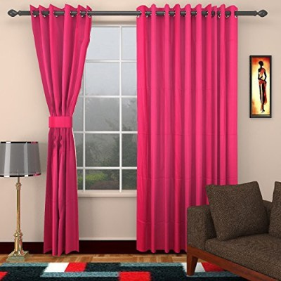 CPM HANDLOOM Cotton Framboise Plain Eyelet Window & Door Curtain