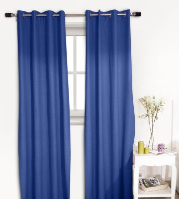 House This Cotton Blue Striped Eyelet Window Curtain
