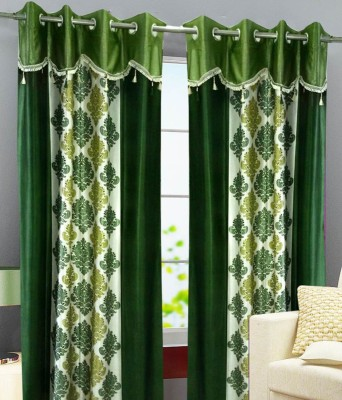 Deco Home Polyester Green Printed Curtain Door Curtain
