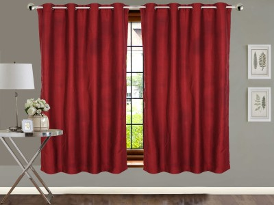 Vivace Homes Polyester Multicolor Solid Eyelet Window Curtain