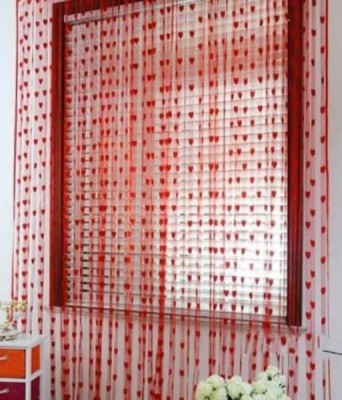 Sam,s Club Net Red Self Design Eyelet Door Curtain
