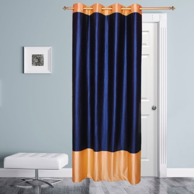Batham Sales Blends Blue Plain Eyelet Door Curtain