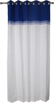 Rann Cotton Blue Plain Curtain Window & Door Curtain
