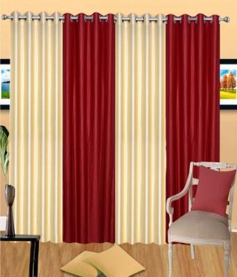 Vugis Polyester Multicolor Plain Eyelet Door Curtain