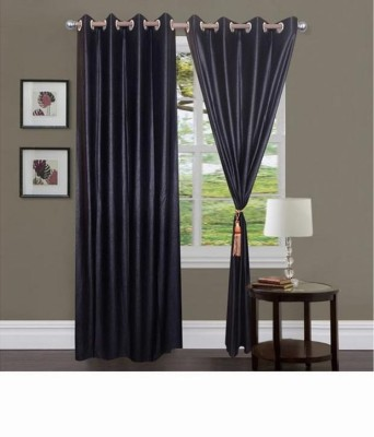 Home Fashion Gallery Polyester Purple Plain Eyelet Window Curtain