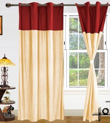 Style Maniac Polyester White Plain Eyelet Door Curtain