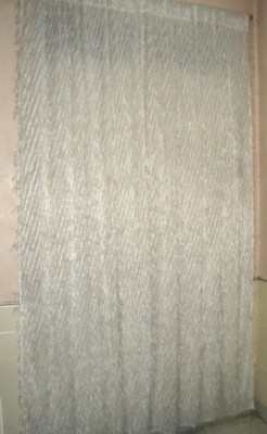 Little Home Polyester White Striped Rod pocket Window & Door Curtain