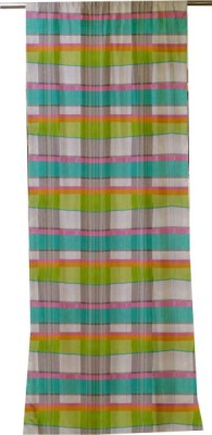 Furnishing Centre Cotton Multicolor Striped Rod pocket Door Curtain