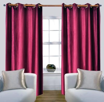 Glamora Interiors Polyester Purple Plain Curtain Window & Door Curtain