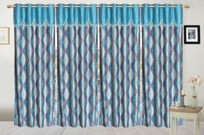 Fresh From Loom Polyester Multicolor Striped Curtain Door Curtain