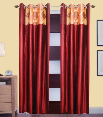 MBM Polyester Multicolor Solid Eyelet Door Curtain