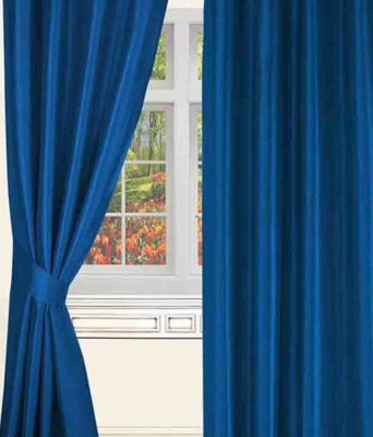 Deziner D??cor Polyester Blue Abstract Eyelet Door Curtain