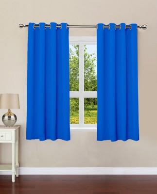 Lushomes Cotton Sky Diver Plain Eyelet Window Curtain