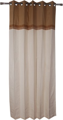 Rann Cotton Brown Plain Curtain Window & Door Curtain
