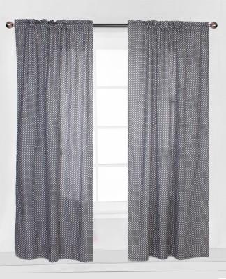 Bacati Cotton Multicolor Polka Eyelet Window & Door Curtain