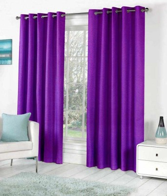 Madhav product Polyester Purple Solid Eyelet Door Curtain