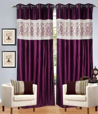 Jai Ganga Polyester Multicolor Plain Curtain Door Curtain