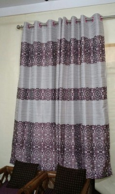 FC Polycotton Pink Floral Eyelet Door Curtain