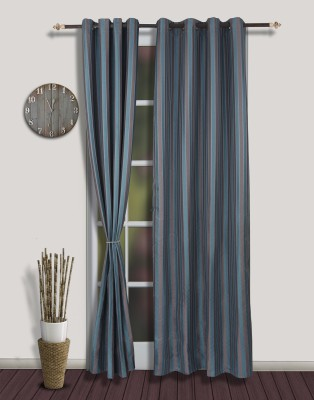 S9home by Seasons Polyester Blue Eyelet Door Curtain
