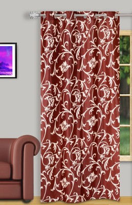 Dreaming Cotton Polyester Red Floral Curtain Door Curtain