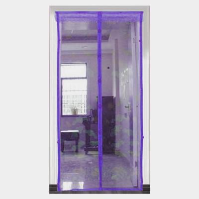 Muren Polyester Purple Printed Tab Top Door Curtain