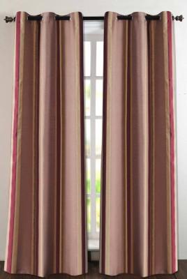 Deco Essential Polyester Burgundy Plain Eyelet Window Curtain