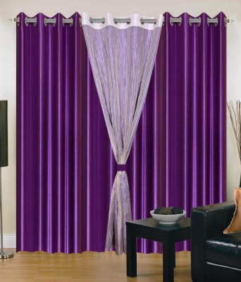 Ech Oly Polyester Multicolor Solid Eyelet Long Door Curtain