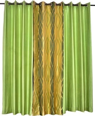 Tip Top Decor Polyester Light Green Solid Rod pocket Door Curtain