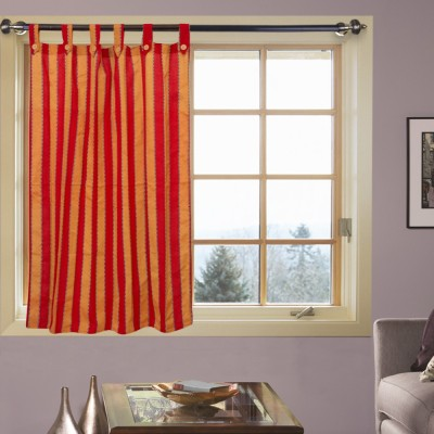 Kings Polycotton Multicolor Striped Eyelet Door Curtain