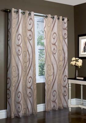 Laura Polyester Multicolor Self Design Curtain Window & Door Curtain