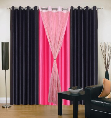 Madhav Product Polyester Multicolor Abstract Eyelet Door Curtain