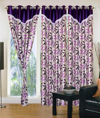 Deco Home Polyester Multicolor Printed Eyelet Door Curtain