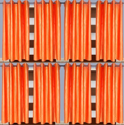 IndianOnlineMall Polyester Multicolor Plain Curtain Window Curtain
