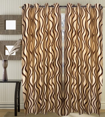 JBG Home Store Polyester Brown Solid Eyelet Door Curtain